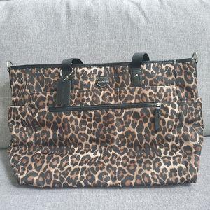 NWT Coach Leopard Nylon Myltifunction Diaper Bag